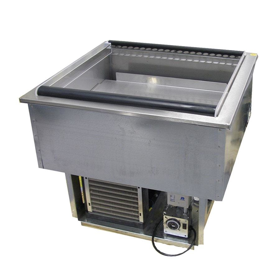 Genial Delfield N8144 FA Three Pan Drop In Forced Air Refrigerated Cold Food Well