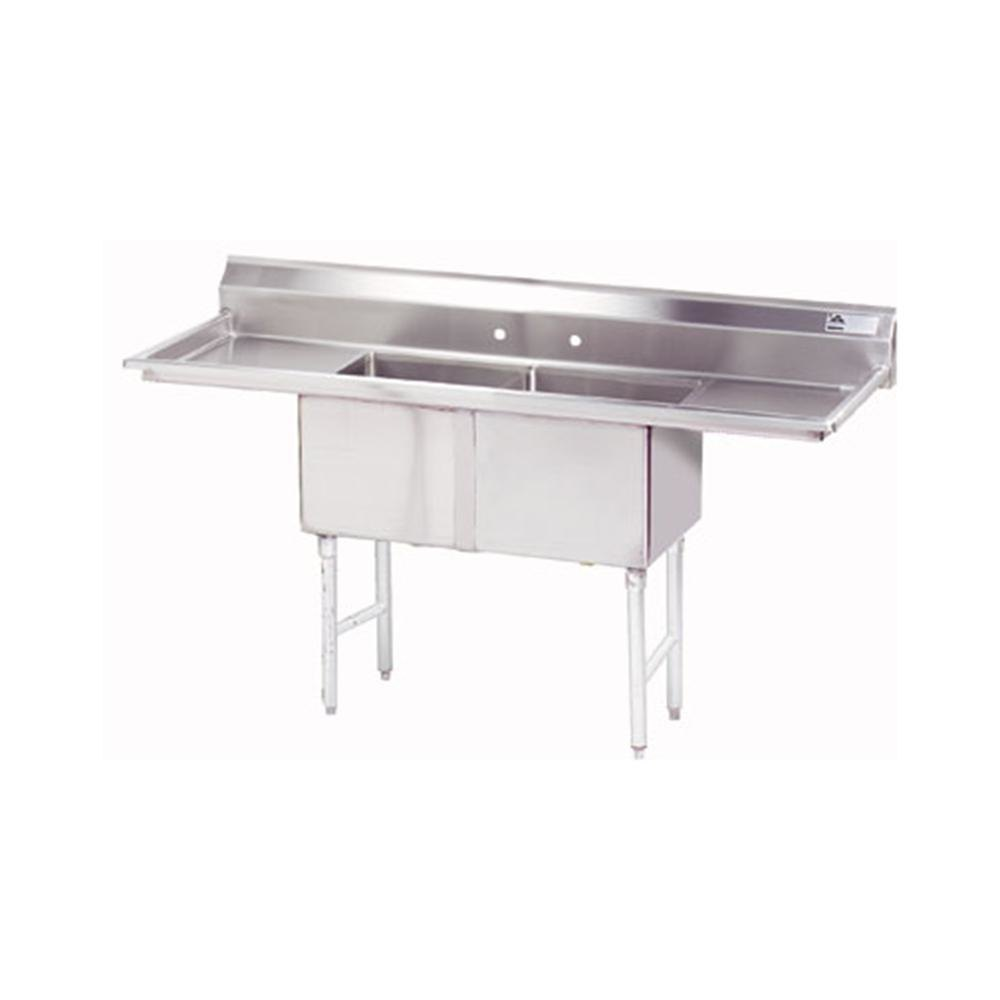 Commercial Sinks Australia : ... Commercial Sink with Two Drainboards - 72