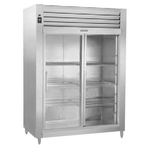 Traulsen RHT232WUT-FSL Stainless Steel 51.6 Cu. Ft. Two Section Sliding Glass Door Reach In Refrigerator - Specification Line