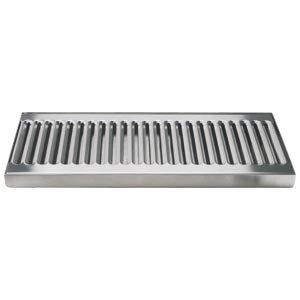 """Micro Matic DP-120D 12"""" Stainless Steel Surface Mount Drip Tray with 1/2"""" ID Drain"""