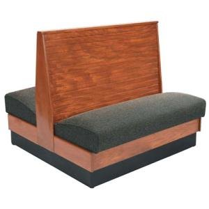 """American Tables & Seating AD36-WBB-SS Bead Board Back Standard Seat Double Wood Booth - 36"""" High"""