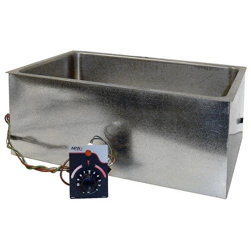 """APW Wyott BM-80 UL Listed Bottom Mount 12"""" x 20"""" Insulated Hot Food Well with Square Corners - 120V, 750W"""