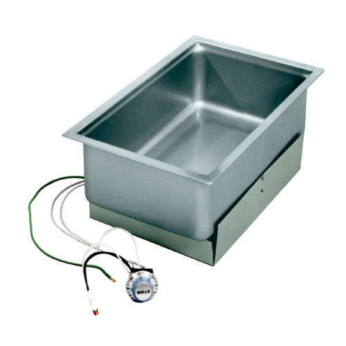 Wells SS206ED Drop-In Rectangular Hot Food Well with Drain- Bottom Mount, Infinite Control, 208/240V