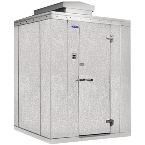"Rt. Hinged Door Nor-Lake KODF1010-C Kold Locker 10' x 10' x 6' 7"" Outdoor Walk-In Freezer"