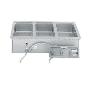 Wells MOD300TDMAF 3 Pan Drop-In Hot Food Well with Drain Manifolds and Autofill - Thermostatic Control