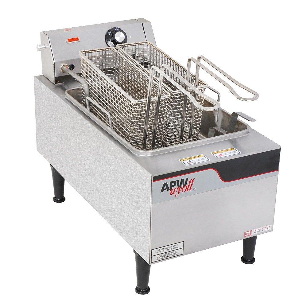 Countertop Deep Fryer : APW Wyott EF15iN 15 lb. Commercial Countertop Deep Fryer 208/240V