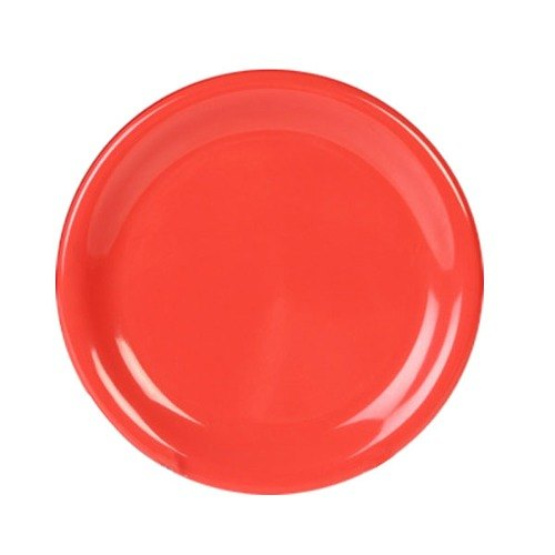 "Thunder Group CR005RD 5 1/2"" Orange Wide Rim Melamine Plate - 12/Pack Main Image 1"