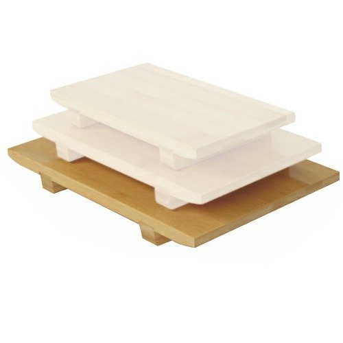 Large Bamboo Sushi Serving Board - 6/Pack