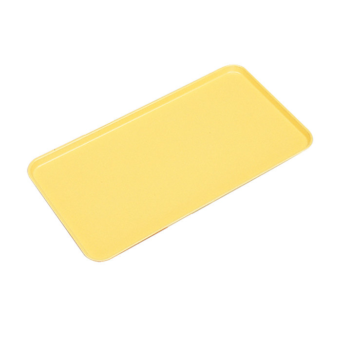 "Cambro 1218MT145 11"" x 18"" Yellow Fiberglass Market Tray - 12/Case"