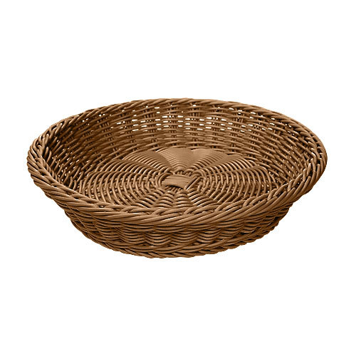 "GET WB-1502-H 11 1/2"" x 2 3/4"" Designer Polyweave Honey Round Basket - 12/Case"