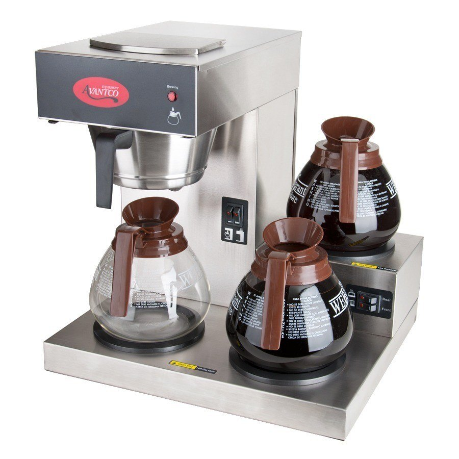 avantco c30 pourover coffee brewer with 3 warmers 120v Bunn Restaurant Coffee Maker