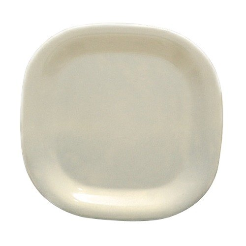 Thunder Group PS3014V Passion Pearl Round Square Plate - 6/Pack