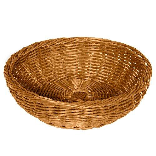 "GET WB-1512-H 11 1/2"" x 3 1/2"" Designer Polyweave Honey Round Basket - 12/Case"