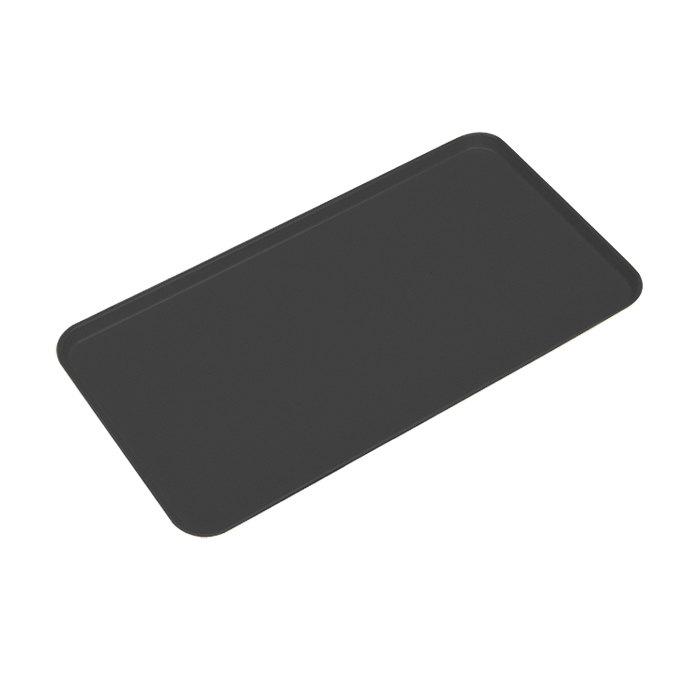 """Cambro 1218MT110 12"""" x 18"""" Black Fiberglass Market Tray - 12/Case"""