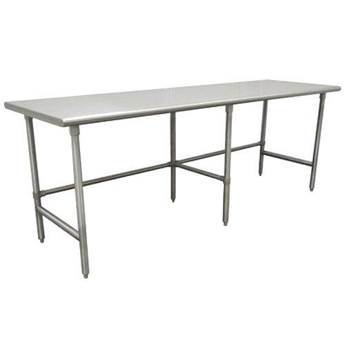 "Advance Tabco TSAG-3012 30"" x 144"" 16 Gauge Open Base Stainless Steel Work Table"