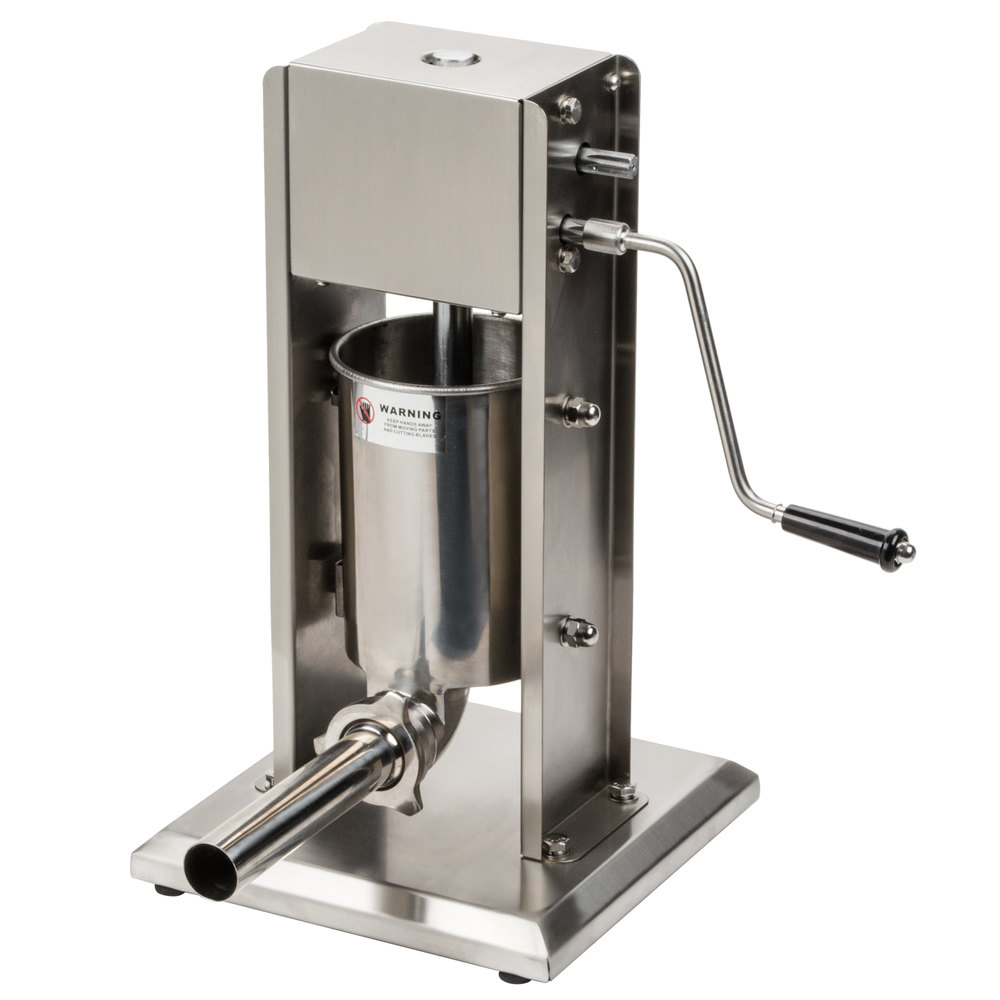 Stainless Steel Coherent Processing New Zealand: Manual 7 Lb. Vertical Economy Sausage Stuffer With