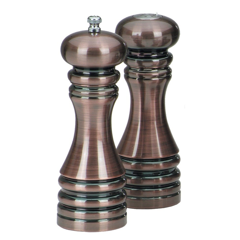 chef specialties 90070 7 burnished copper pepper mill salt shaker set. Black Bedroom Furniture Sets. Home Design Ideas