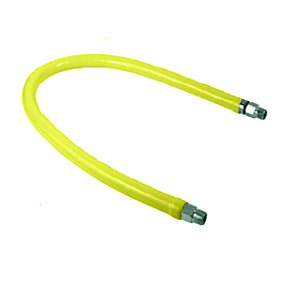 """T&S HG-2C-48K Safe-T-Link 48"""" FreeSpin Gas Appliance Connector 1/2"""" NPT with Installation Kit"""