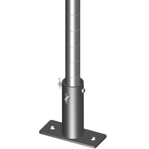 "Metro SAQHD25BP-1 Super Erecta 2 7/8"" x 7"" x 1/4"" One-Post Seismic Bolt Plate Kit for HD Super / MetroMax Q Posts - 4/Pack"