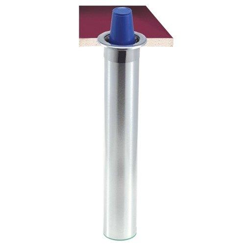 San Jamar C3200CF Stainless Steel Counter-Mount Foam Cup Dispenser - 6 to 10 oz.