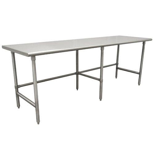 "Advance Tabco TSAG-3011 30"" x 132"" 16 Gauge Open Base Stainless Steel Work Table"