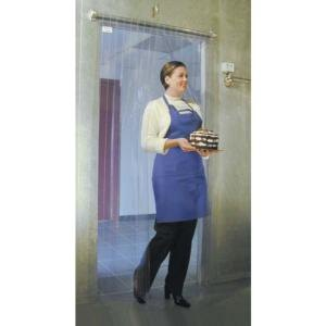 "Curtron M106-PR-6680 66"" x 80"" Polar Reinforced Step-In Refrigerator / Freezer Strip Door Main Image 1"