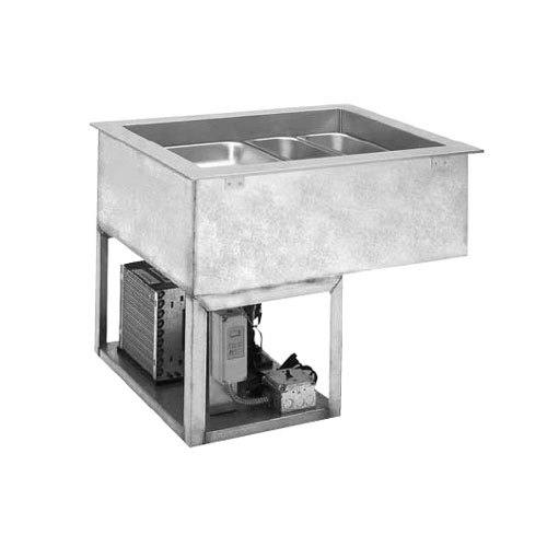 """Wells RCP-7243 33"""" Two Pan Drop In Refrigerated Cold Food Well with 4/3 Capacity with Recessed Pan Compartments"""