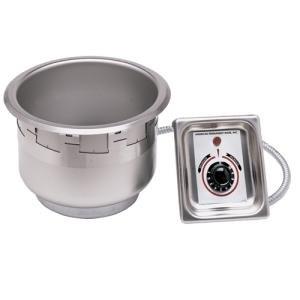 APW Wyott SM-50-7 UL High Performance 7 Qt. Round Drop In Soup Well with UL Electrical Kit - 120V Main Image 1