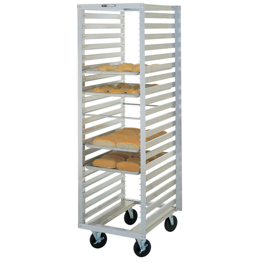 refrigerator racks. metro rf78n mobile roll-in refrigerator end load bun pan rack - 13 racks