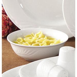 CAC RSV-120 Roosevelt 24 oz. Super White Porcelain Pasta Bowl - 12/Case