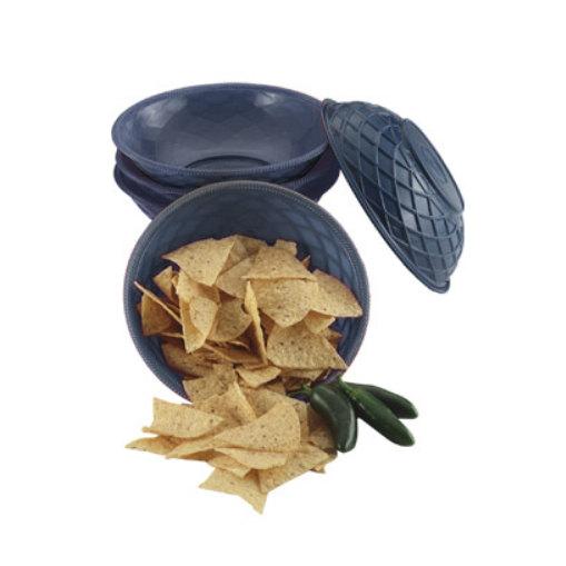 "HS Inc. HS1018 9"" x 2 1/4"" Blueberry Polyethylene Round Weave Basket - 24/Case"