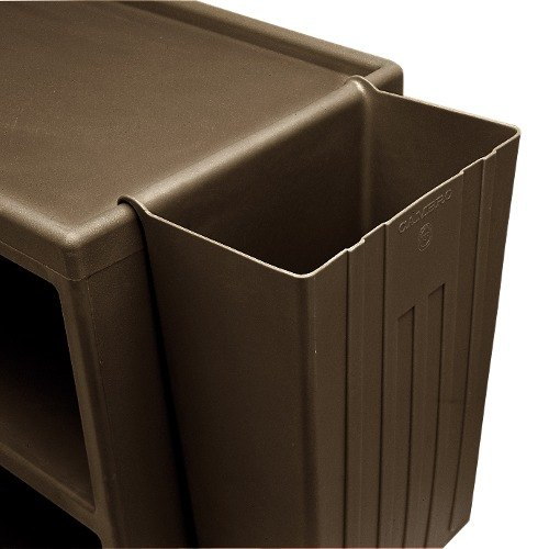 Cambro BC11TC131 Brown 11 Gallon Trash Container for Service Carts