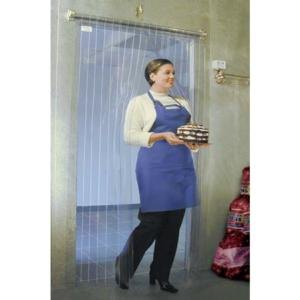 "Curtron M106-S-6680 66"" x 80"" Standard Grade Step-In Refrigerator / Freezer Strip Door Main Image 1"