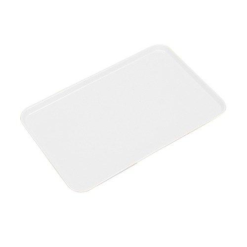 """Cambro 1015MT148 10"""" x 15"""" White Fiberglass Market Tray - 24/Case"""