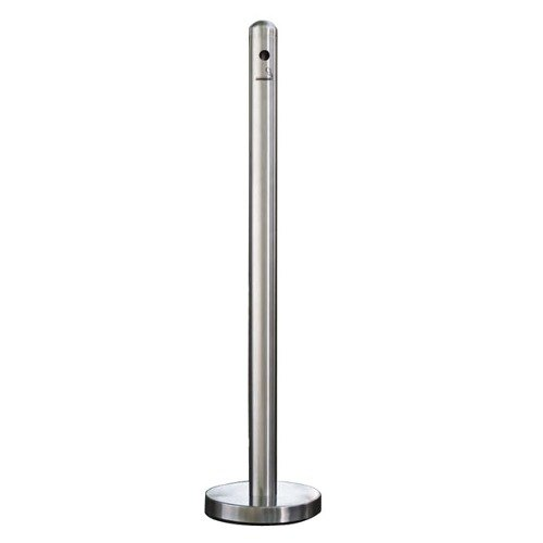 """American Metalcraft SPRV1 40"""" Brushed Stainless Steel Free Standing Smoker Pole and Base"""
