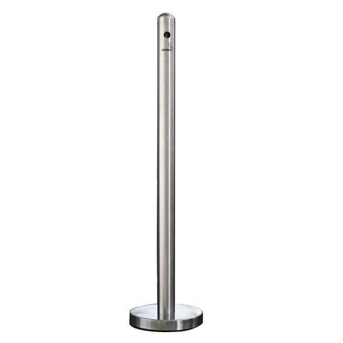 """American Metalcraft SPRV1 40"""" Brushed Stainless Steel Free Standing Smoker Pole and Base Main Image 1"""