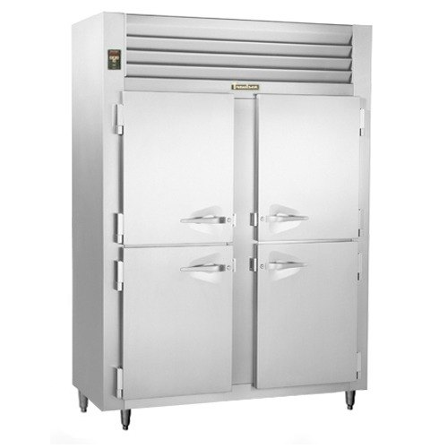 Traulsen ALT226WUT-HHS 40.8 Cu. Ft. Shallow Two-Section Solid Half Door Reach In Freezer - Specification Line Main Image 1