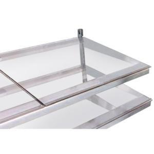 "True 914824 Glass Shelf Kit - 23 3/4"" x 21 3/4"" Main Image 1"