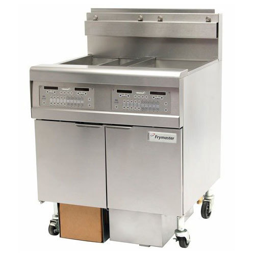 Frymaster FPGL230-CA Liquid Propane Floor Fryer with Two 30 lb. Frypots and Automatic Top Off - 150,000 BTU