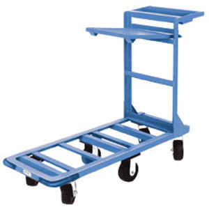 "Winholt 550HD/SX 18"" x 51"" Heavy Duty Utility Cart with Heavy Duty Rubber Wheels, Tool Tray, and Shelf - 700 lb. Capacity"