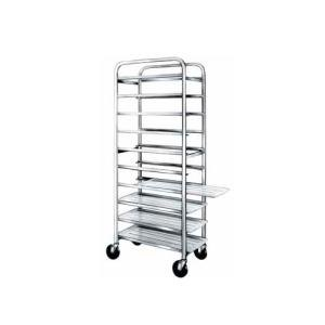 "Winholt SS-1810B End Load Stainless Steel Platter Cart - Ten 18"" Trays Main Image 1"