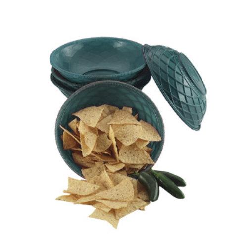 """HS Inc. HS1018 9"""" x 2 1/4"""" Jalapeno Polyethylene Round Weave Basket - 24/Case"""