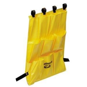 Continental 277 10 Pocket Yellow Bag Caddy for #275 Folding Cart Main Image 1