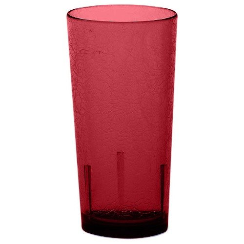 Cambro D16156 Del Mar 16 oz. Ruby Red Customizable Plastic Tumbler - 36/Case