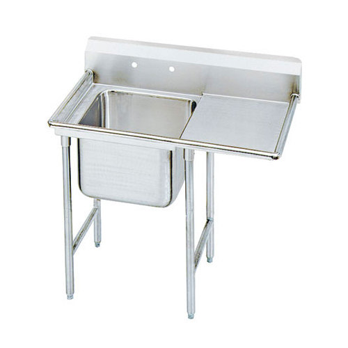 """Right Drainboard Advance Tabco 9-81-20-18 Super Saver One Compartment Pot Sink with One Drainboard - 44"""""""