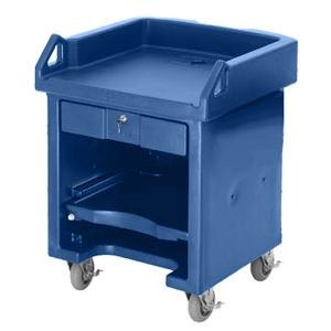 Cambro VCS186 Navy Blue Versa Cart with Standard Casters Main Image 1