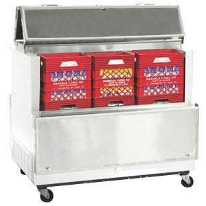 "Master-Bilt DOMC-124-A White Dual Access Milk Cooler - 49"""