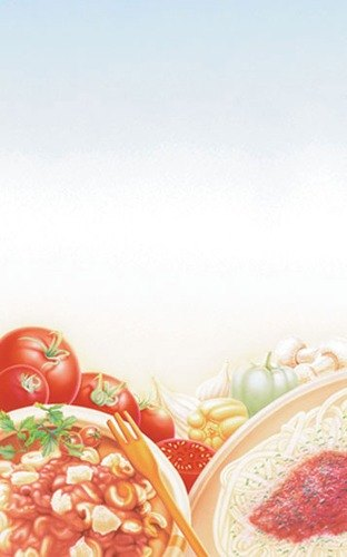 "8 1/2"" x 11"" Menu Paper - Italian Themed Pasta Design Cover - 100/Pack"
