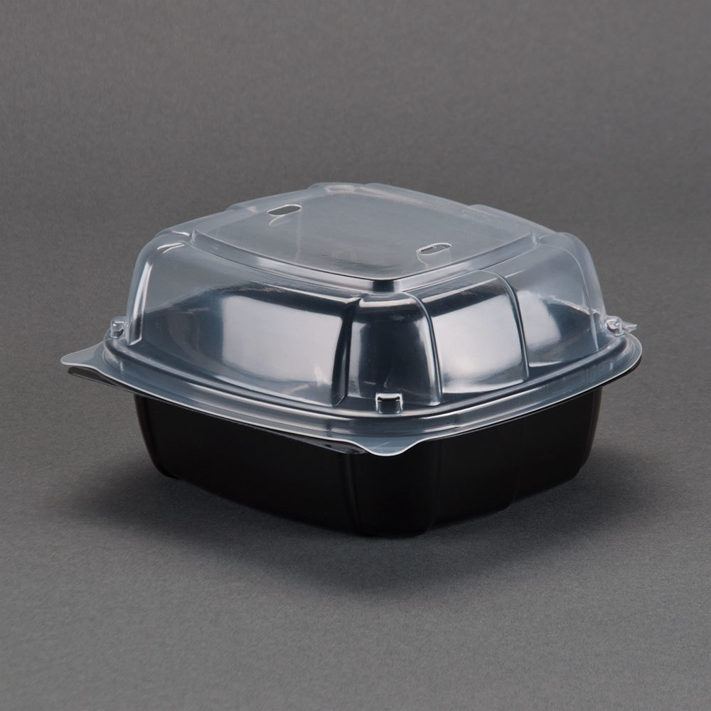 Matfer 061607 stainless steel table crumber - Microwaveable Plastic Hinged Take Out Container 171 Case Jpgtake