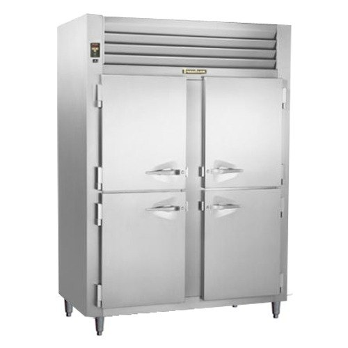 Traulsen RHT226WUT-HHS Stainless Steel 40.8 Cu. Ft. Two Section Solid Half Door Shallow Depth Reach In Refrigerator - Specification Line Main Image 1